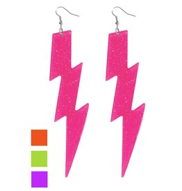 Forum Lightning Bolt Earrings Pink