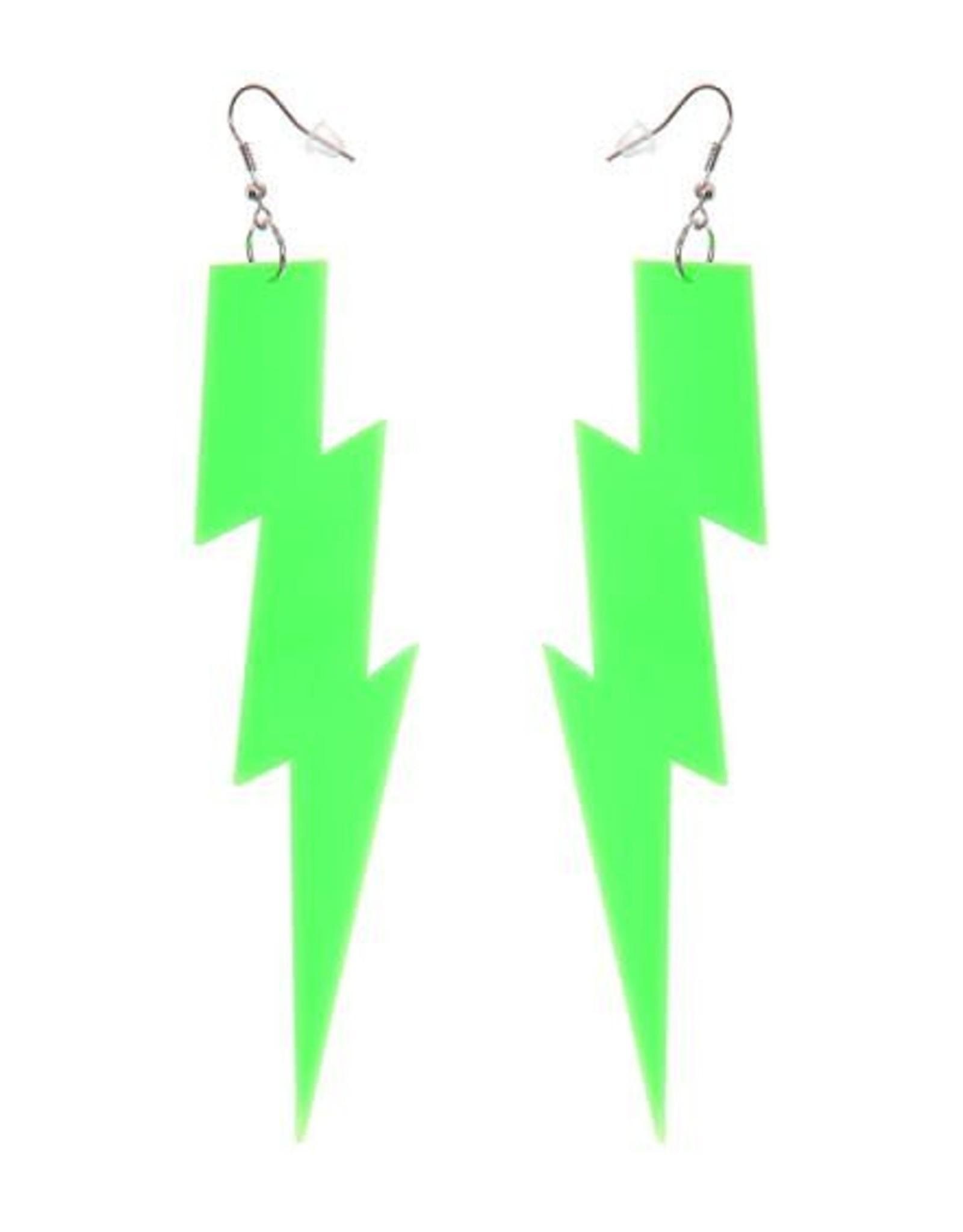 Forum Lightning Bolt Earrings Green