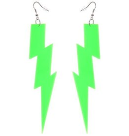 Forum Lightning Bolt Earrings Green