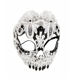 Forum White Lace Skull Mask