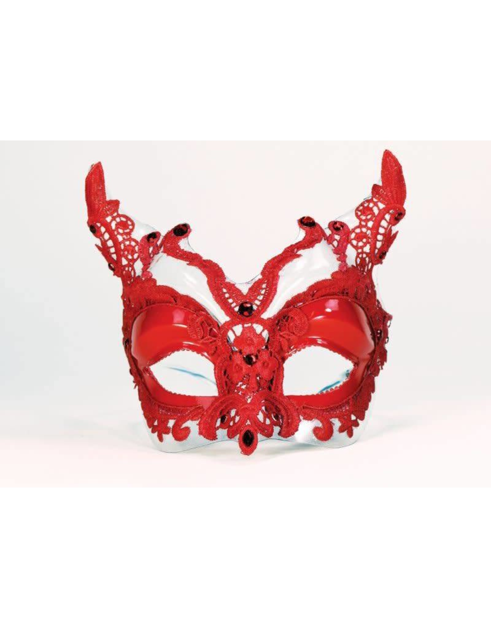 Forum Red Lace Devil Mask