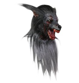 Ghoulish Black Wolf Mask