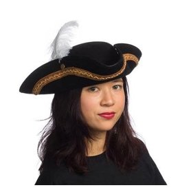 HMS Pirate Hat Black