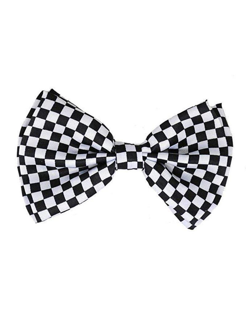 Leema Bow Tie Checker Blk/Wht