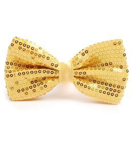 Leema Bow Tie Gold Sequin