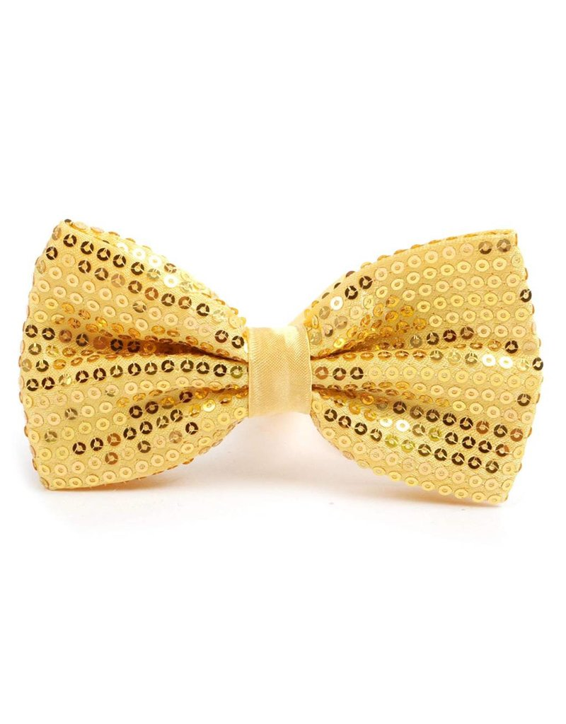 Leema Bow Tie Gold Sequin