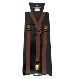 Leema Suspenders Brown Leather
