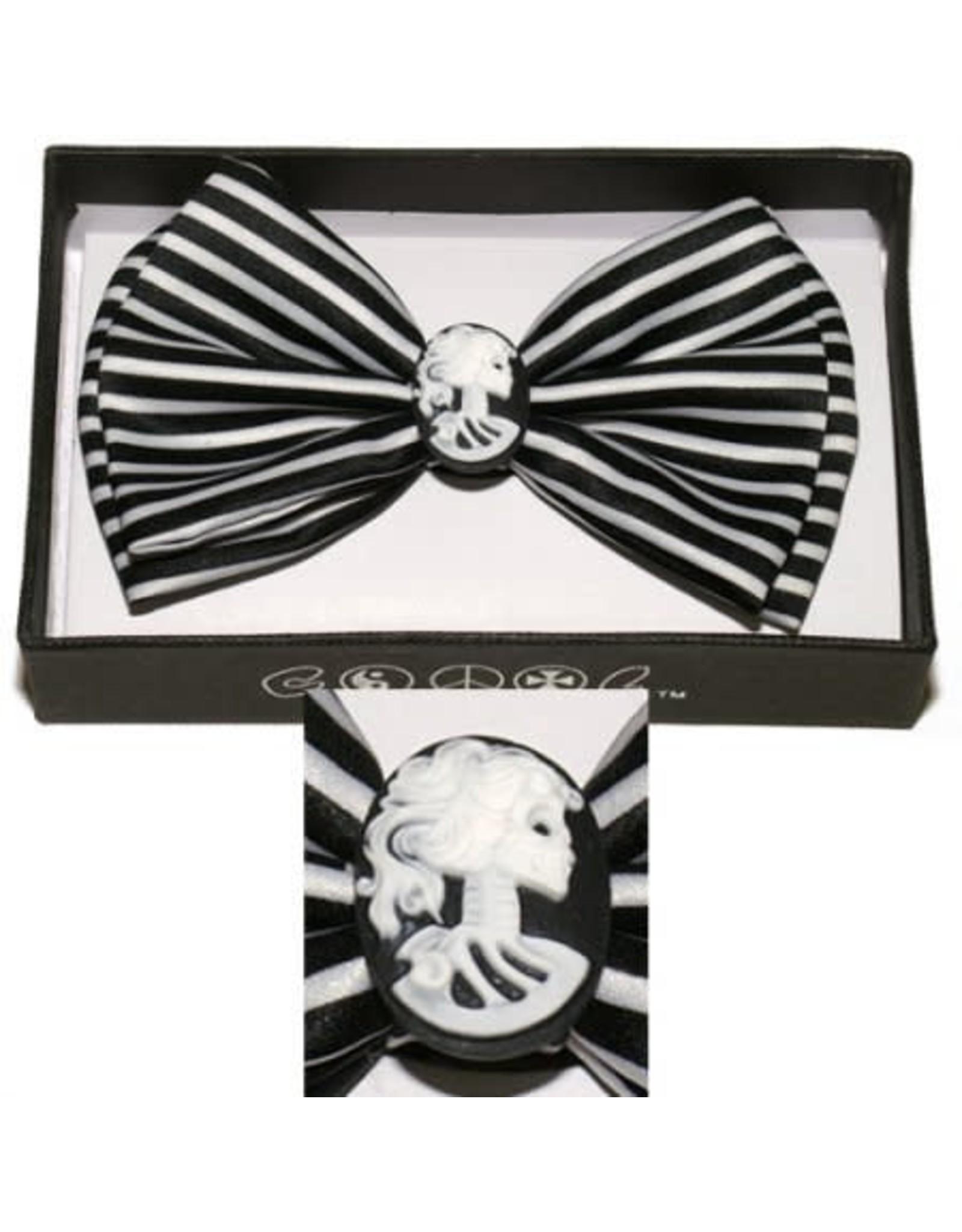 Leema Bow Tie Cameo Stripe