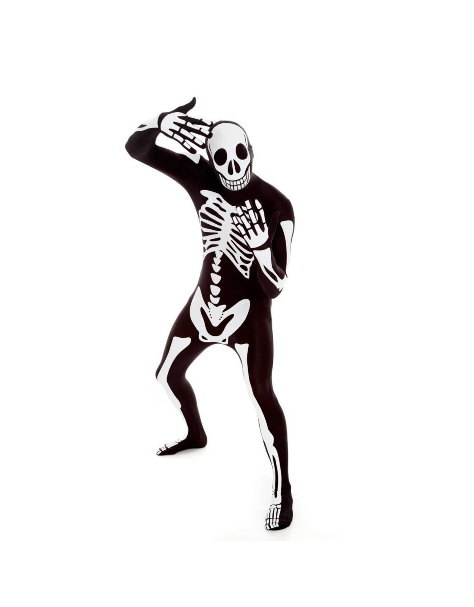 Morphsuits Morphsuit White Skeleton L