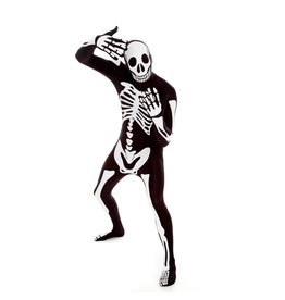 Morphsuits Morphsuit White Skeleton M