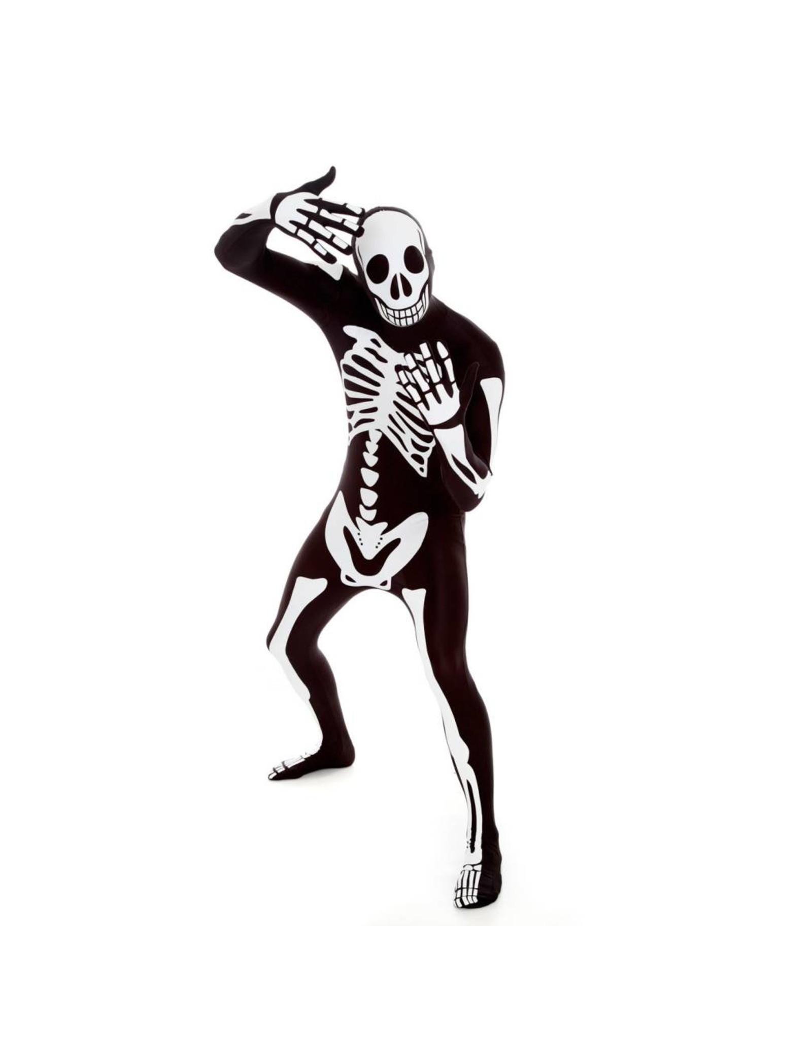 Morphsuits Morphsuit White Skeleton XL