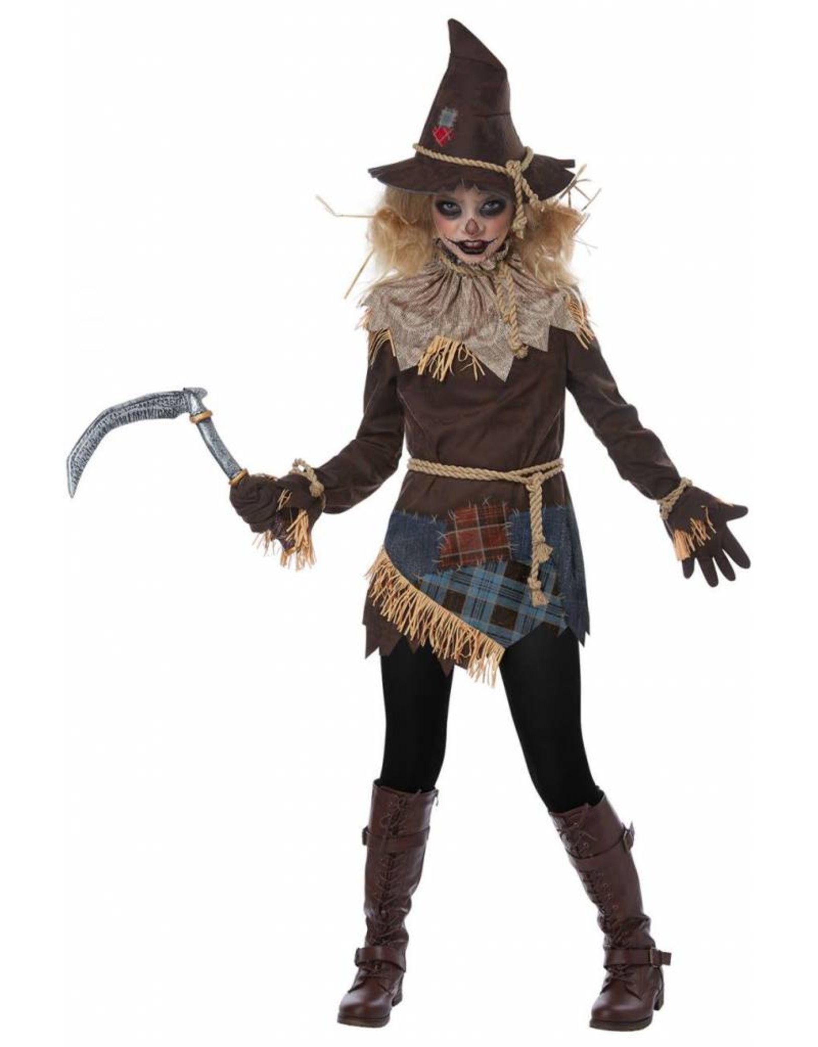 California Costume Creepy Scarecrow Girl