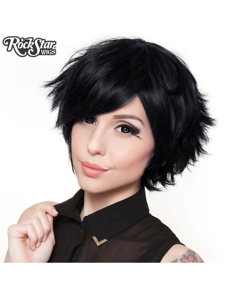 Rockstar Wigs Boy Cut Black Black Cat Costumes