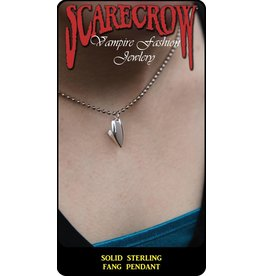 Scarecrow Sterling Fang Pendant