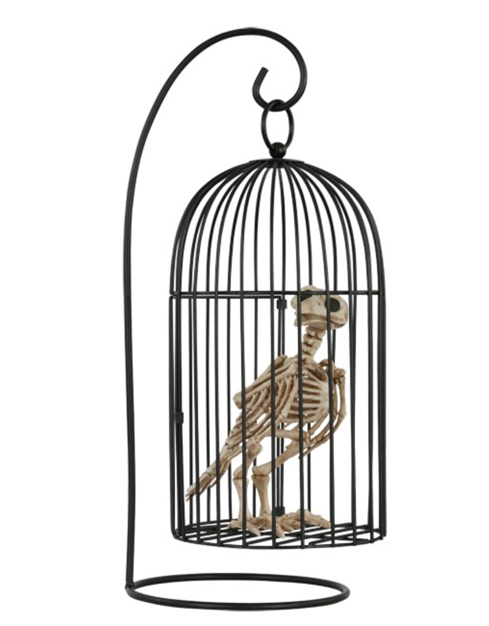 Seasons Skeleton Crow in Cage