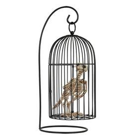Seasons Skeleton Crow in Cage