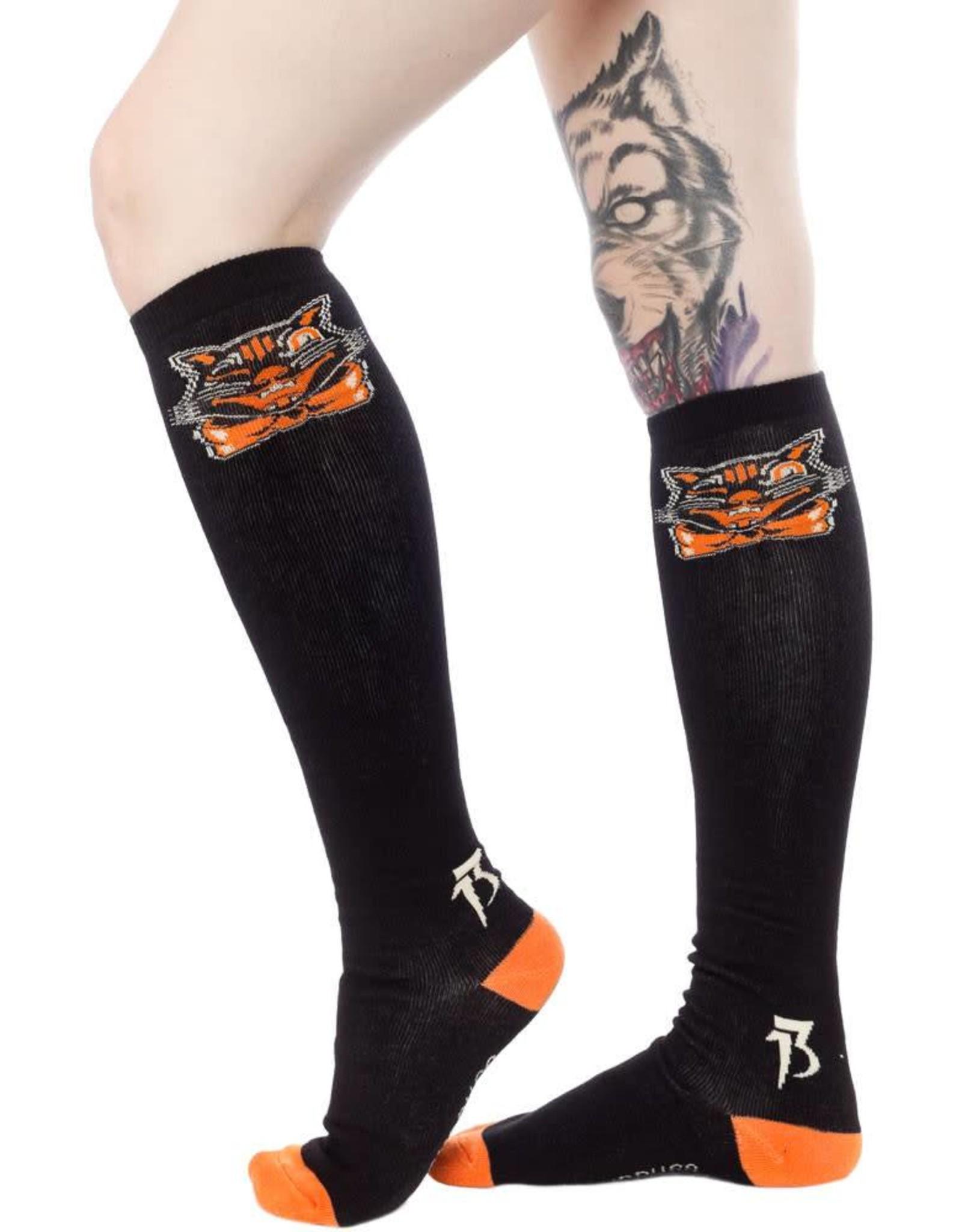 Sourpuss Black Cat Socks