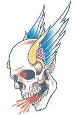 Tinsley Transfers Skull Tattoo