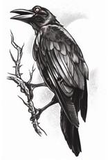 Tinsley Transfers Goth Raven Tattoo