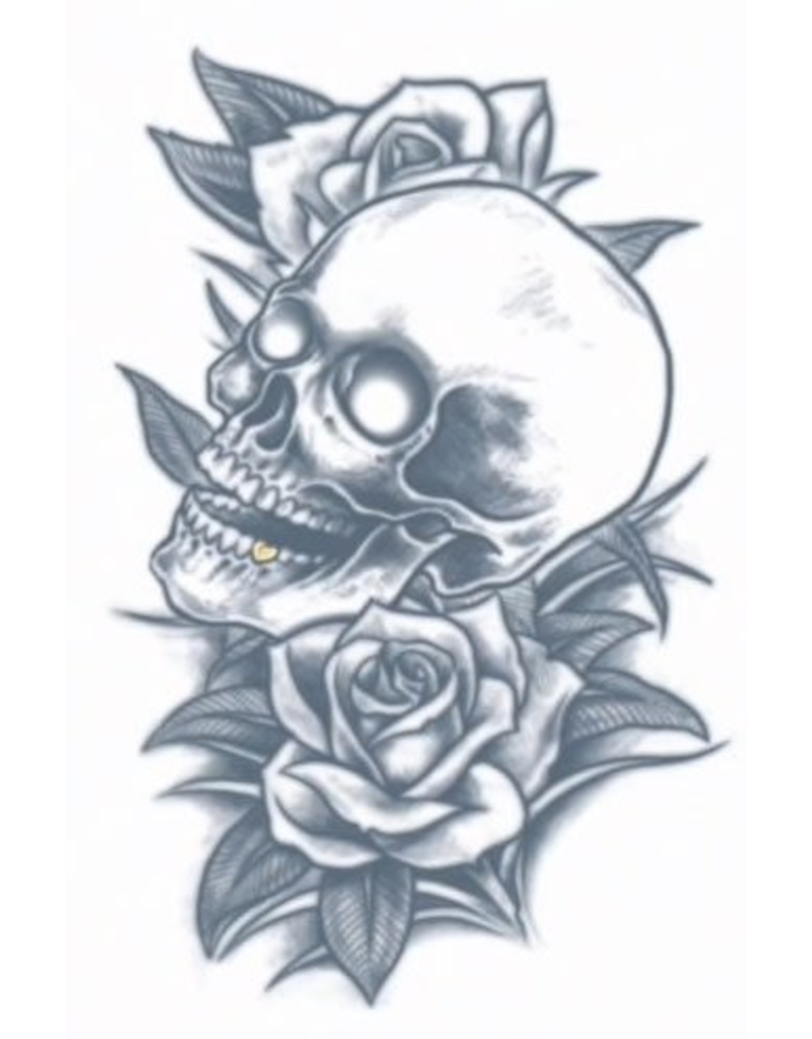 Tinsley Transfers Skull & Roses Tattoo