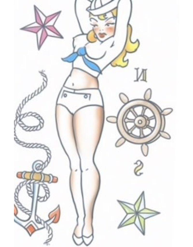 Tinsley Transfers Sailor Pin Up Tattoo
