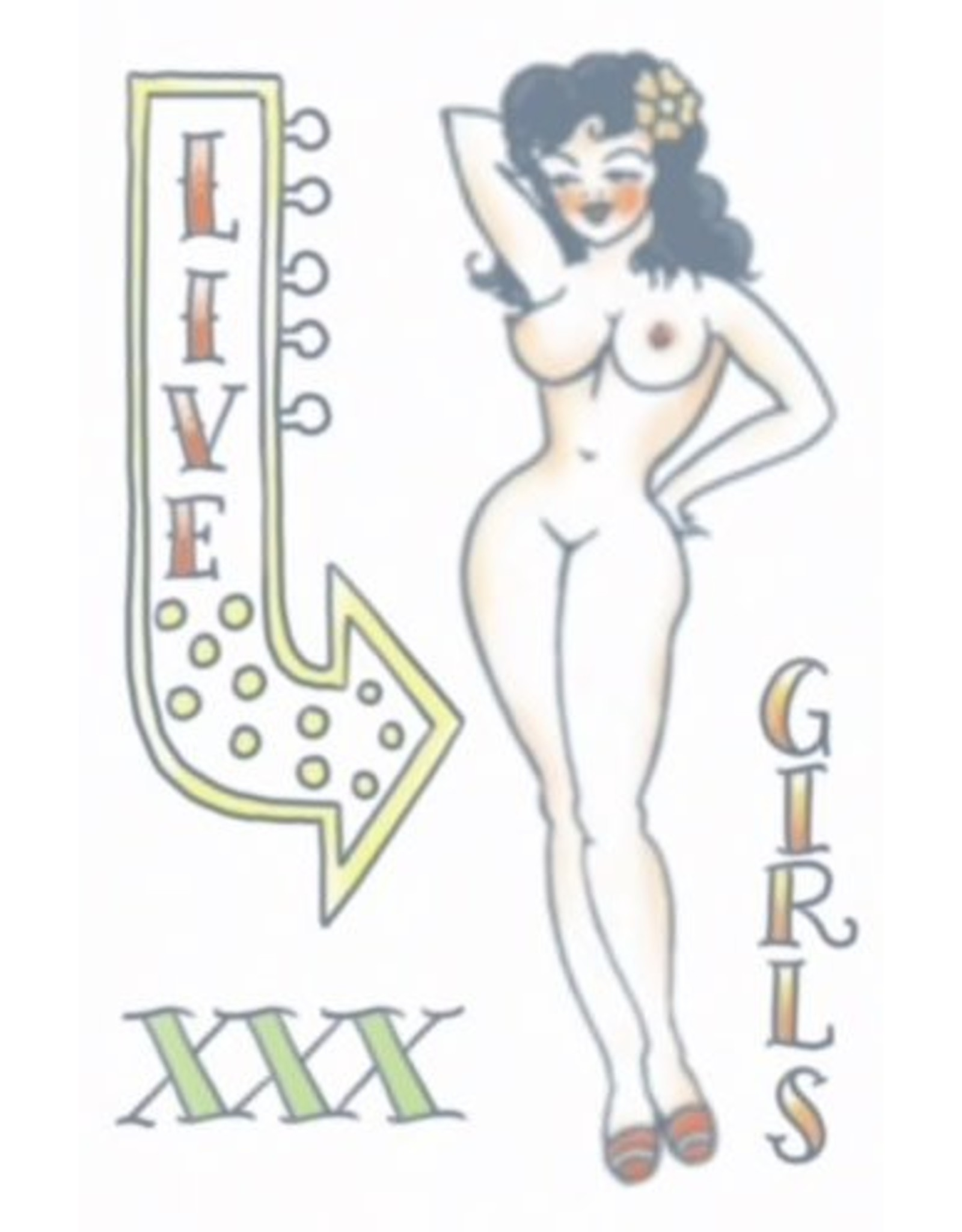 Tinsley Transfers 1950's Pin Up Tattoo