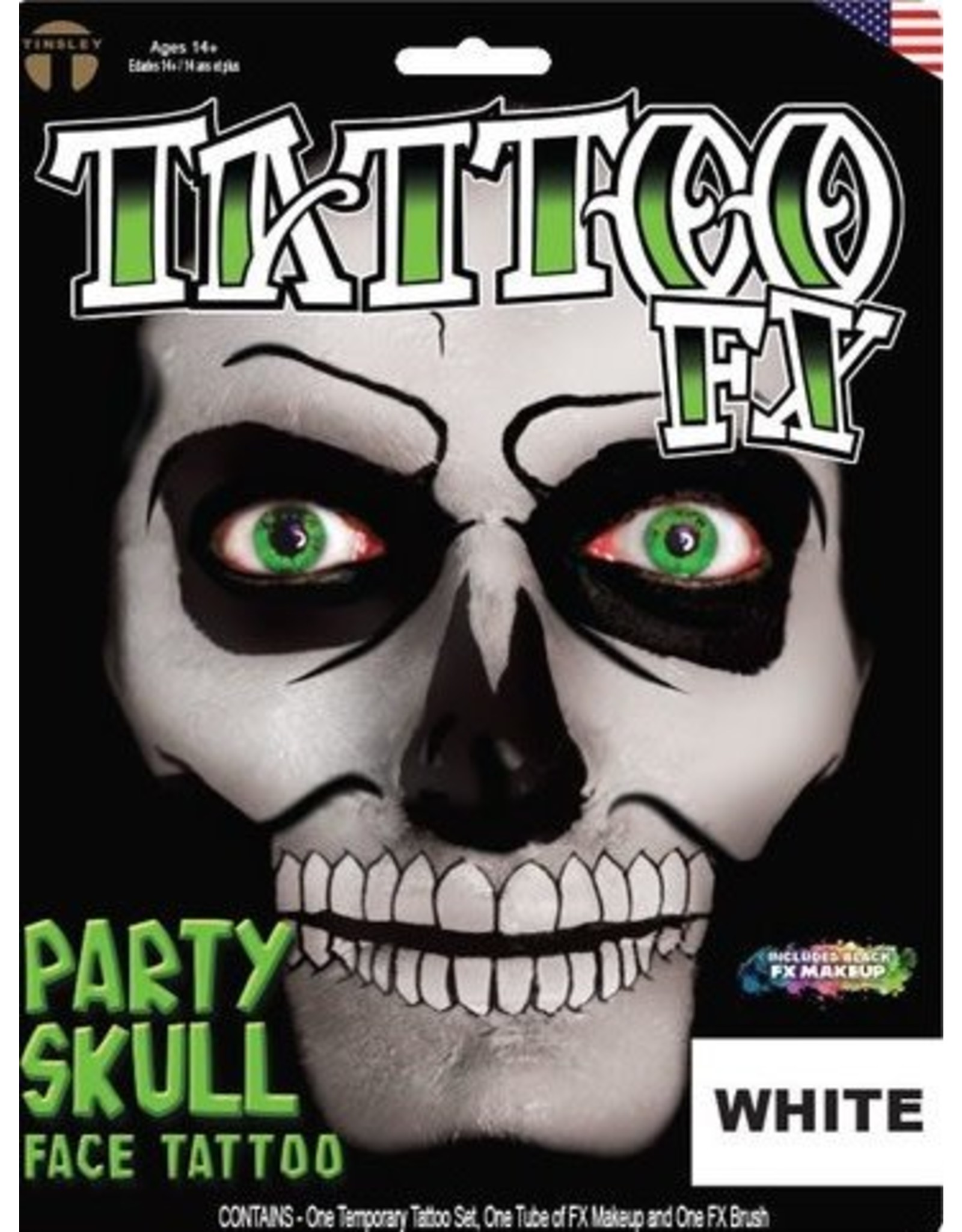 Tinsley Transfers Party Skull
