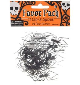Amscan Clip-On Spiders 24pk