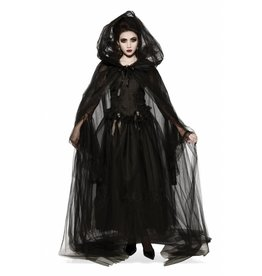 Rubies Black Hooded Cape