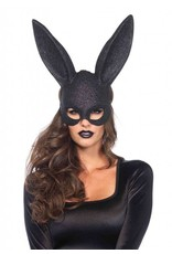 Leg Avenue Rabbit Mask Black Glitter