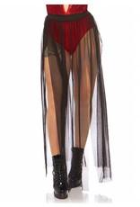 Leg Avenue Sheer Skirt Black
