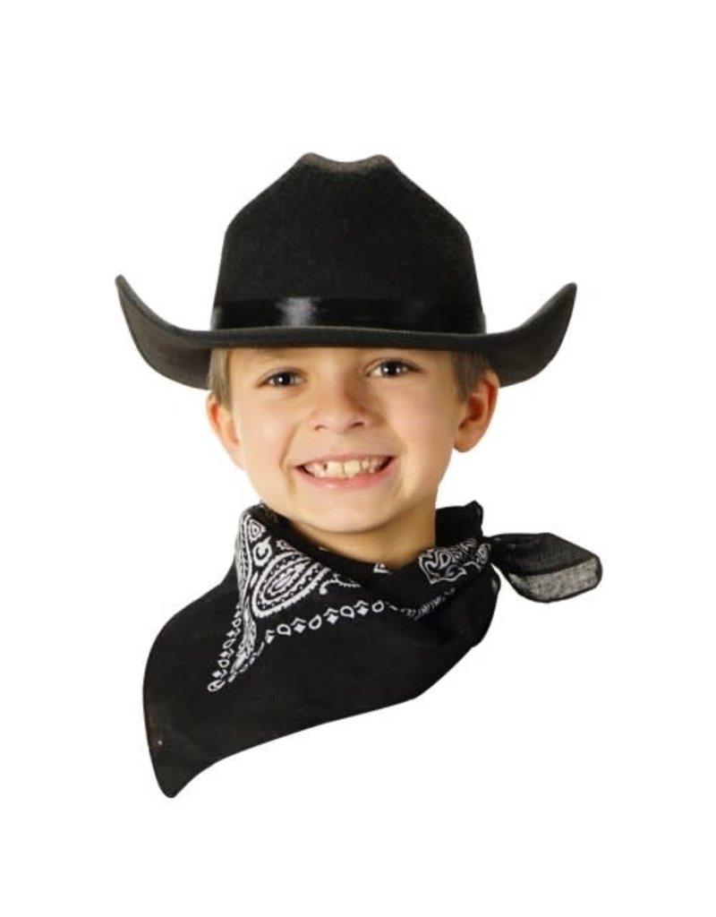 Aeromax Cowboy Hat/Bandana Blk
