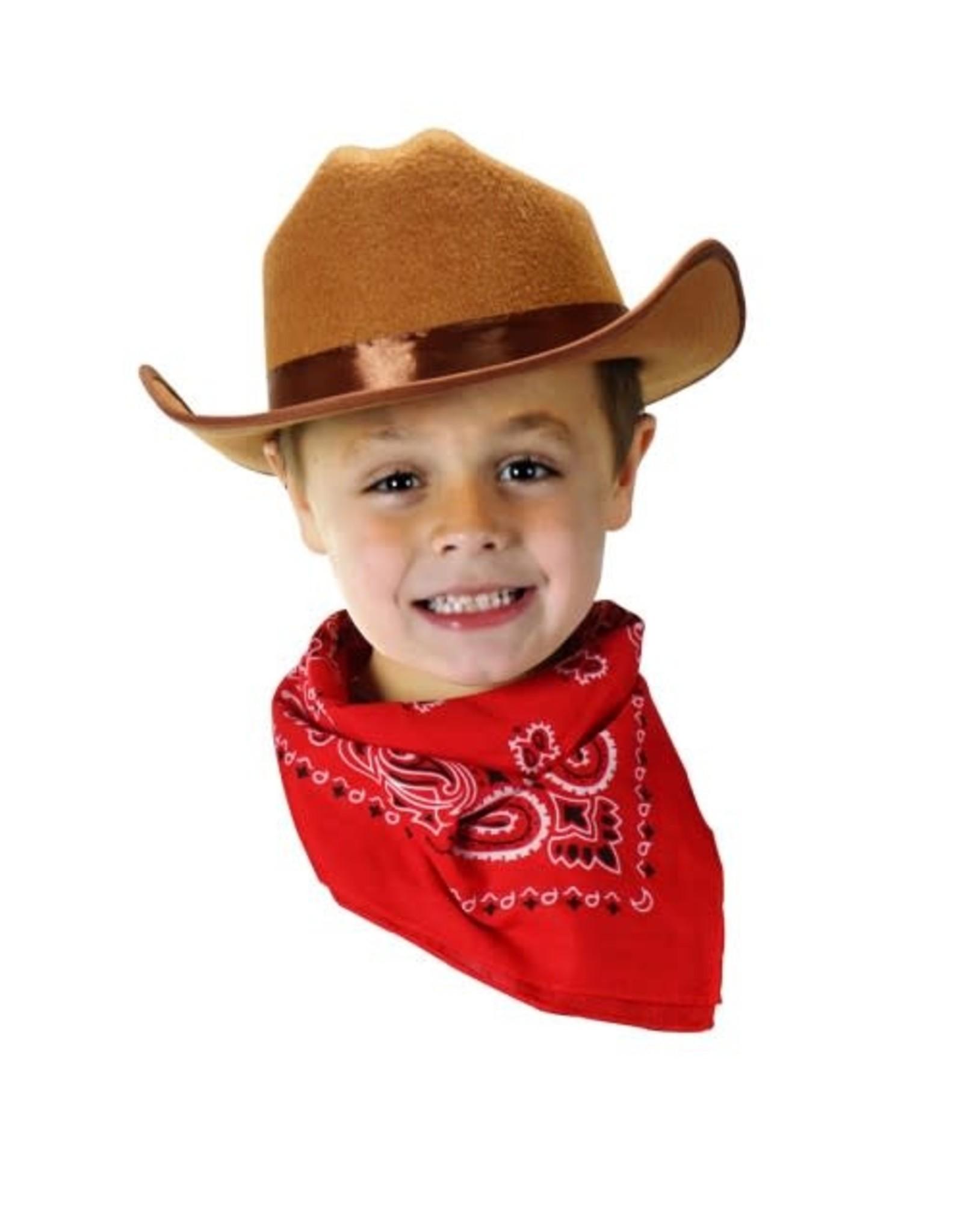 Aeromax Cowboy Hat/Bandana Brown