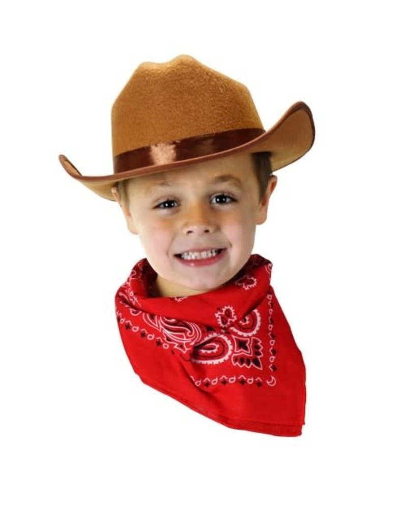 Aeromax Cowboy Hat/Bandana Brown