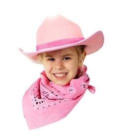 Aeromax Cowboy Hat/Bandana Pink