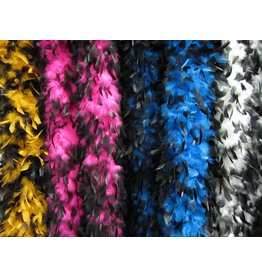 S.A. Feather Co Boa White & Black