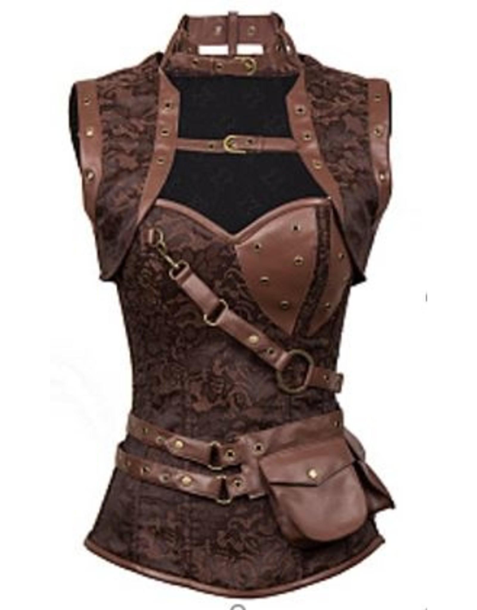 Western Fashion Steampunk Corset and Vest