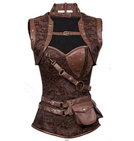 Western Fashion Steampunk Corset and Vest