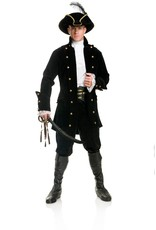 Charades Pirate Coat Black