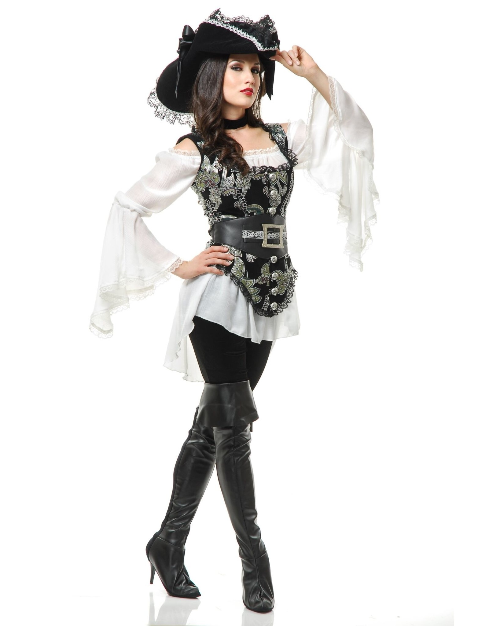 Charades Pirate Lady Green/Blk
