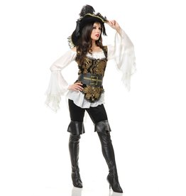 Charades Pirate Lady Gold/Blk