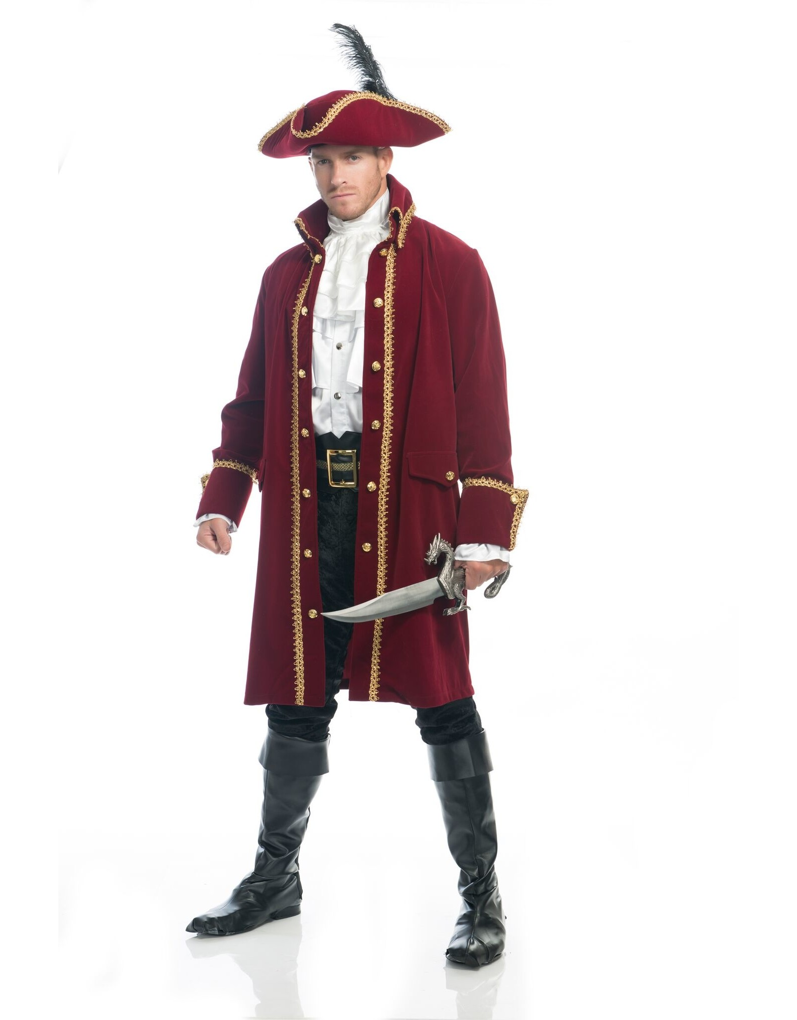 Charades Ruthless Pirate Coat Wine