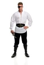 Charades Eyelet Pirate Shirt White
