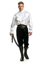 Charades Pirate Captain Shirt White