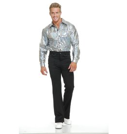 Charades Silver Glitter Disco Shirt