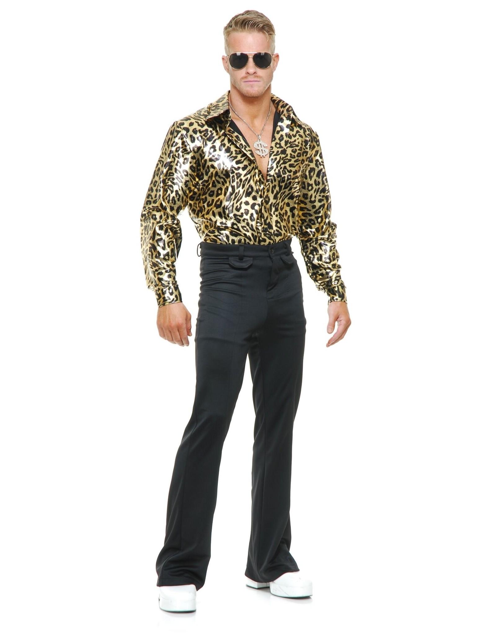 Charades Leopard Disco Shirt