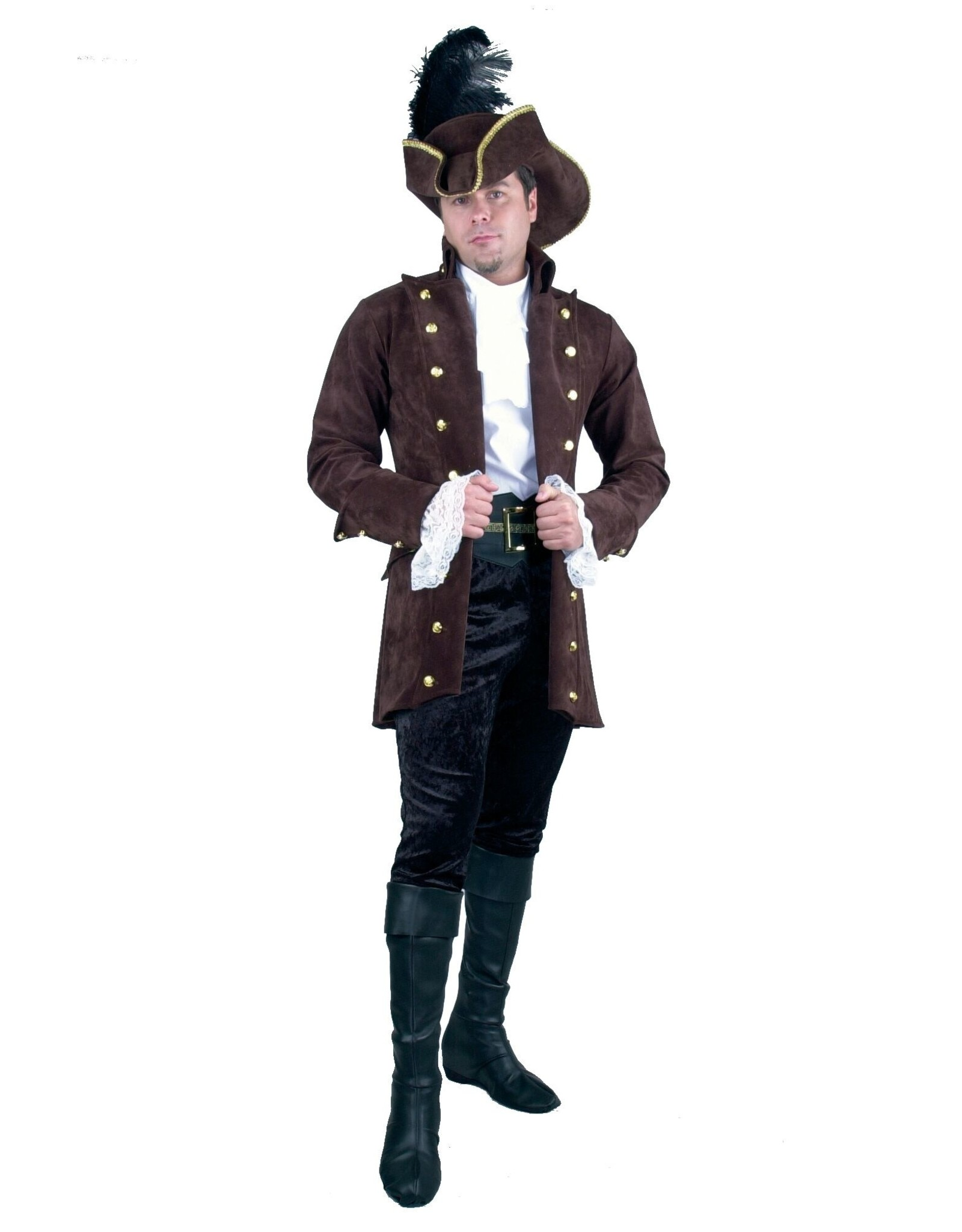 Charades Pirate Coat Brown