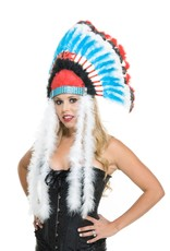 Charades Indian Headdress red/blk/blue