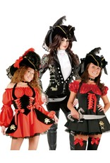 Charades Pirate Hat Blk/Silver