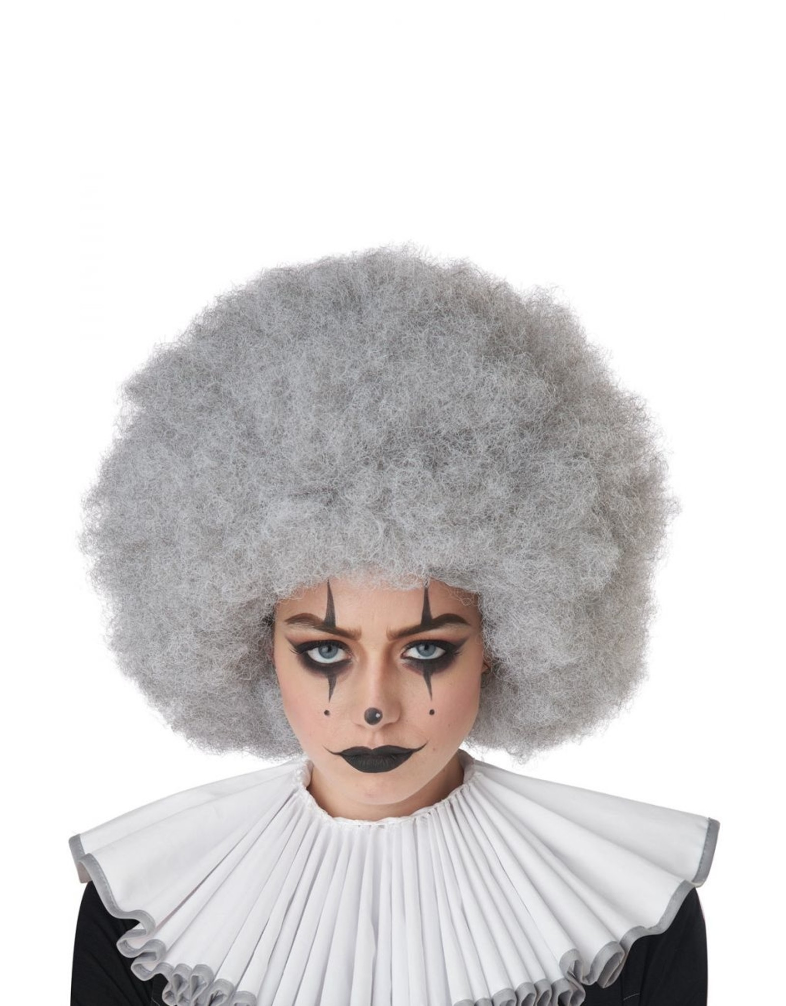 California Costume Jumbo Clown Gray Wig